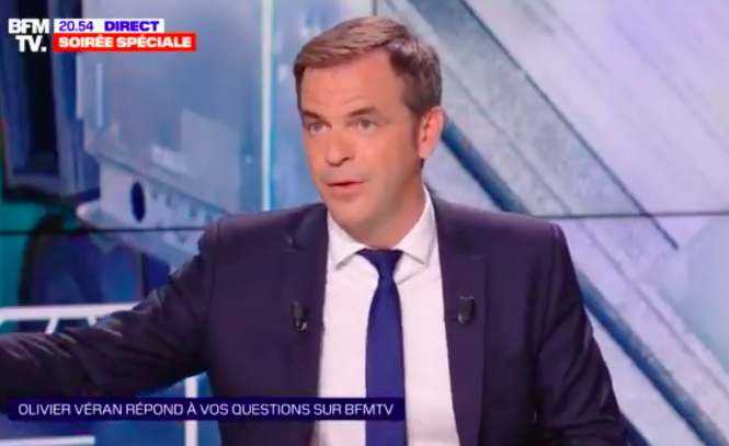 Olivier Véran interviewed on BFMTV on May 17. Covid France: Health minister on masks, vaccines and end of lockdown