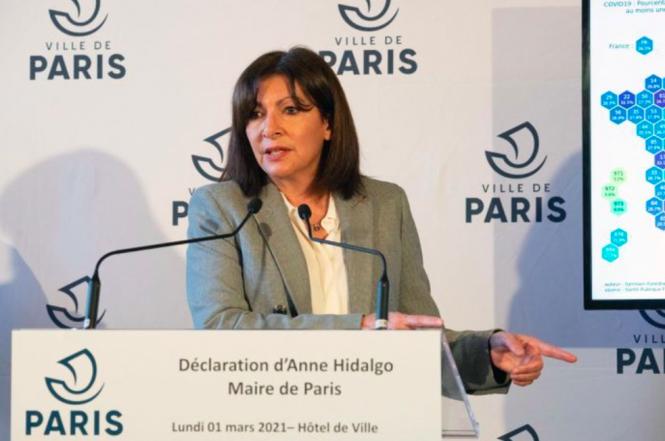Paris mayor Anne Hidalgo. Covid France: Paris mayor opposes March 6 weekend lockdown