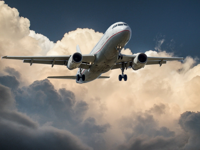 A plane in the sky. Travel: EU and non-EU arrivals to France now need PCR tests
