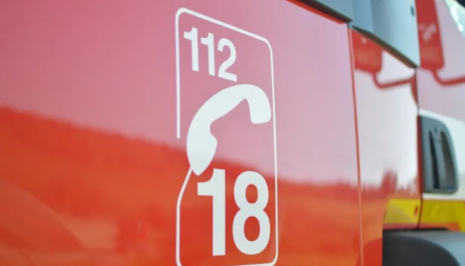 The fire brigade number 18 or 112. Forest fire warning for Dordogne France