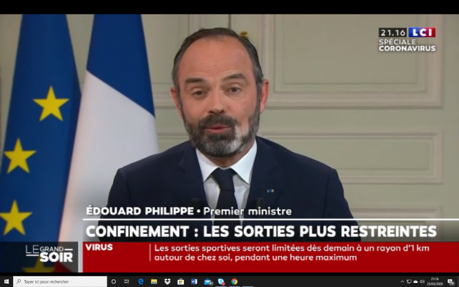 French PM Philippe says tightened coronavirus lockdown could last weeks