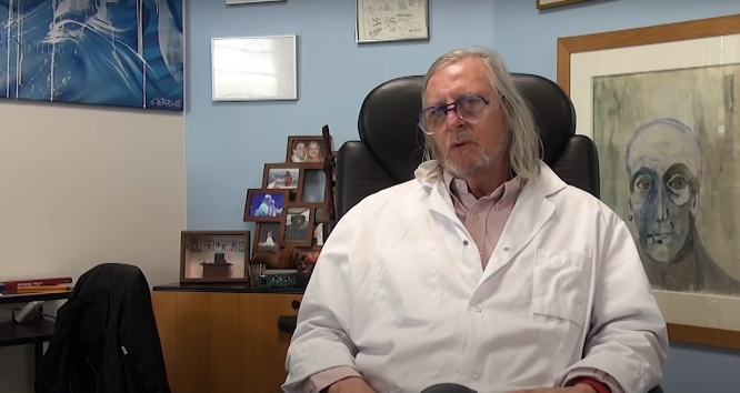 Professor Didier Raoult in his recent video. French medics reject claim that vaccination increases Covid risk