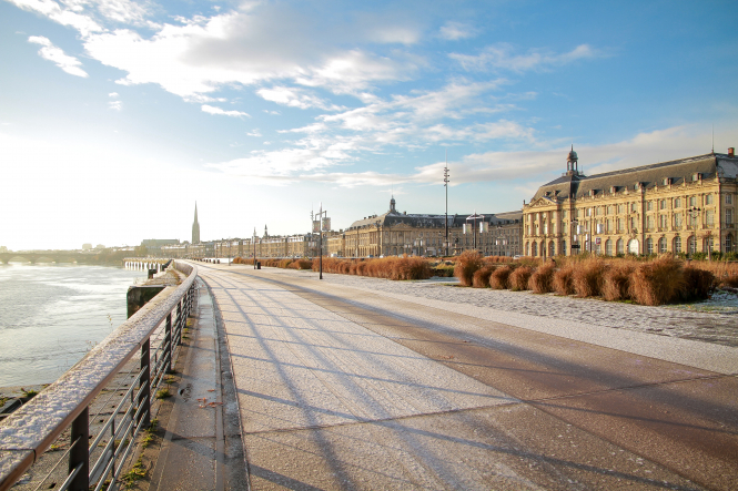 Property prices are rising as France leaves lockdown. Pictured: Bordeaux, France.