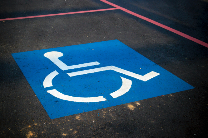 Disabled parking.