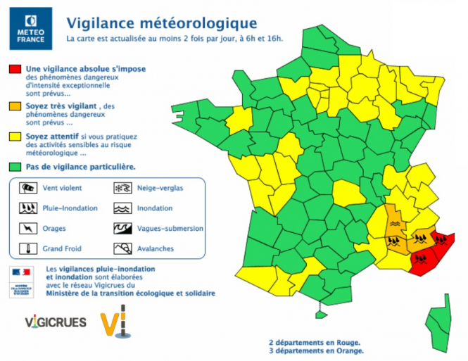 Red Alert For More Rain And Floods In Southeast France