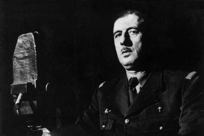 Renowned political commentator, historian and Connexion columnist Simon Heffer comments on how Macron has invoked the greatness of de Gaulle to reinvent 'esprit de resistance'. Pictured: Charles de Gaulle on BBC Londres.