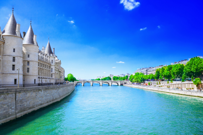 The river Seine looking clean. Is River Seine clean enough for Paris Olympics 2024? Public says no