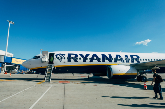 A Ryanair plane on the tarmac. Ryanair opens new base at Paris Beauvais airport