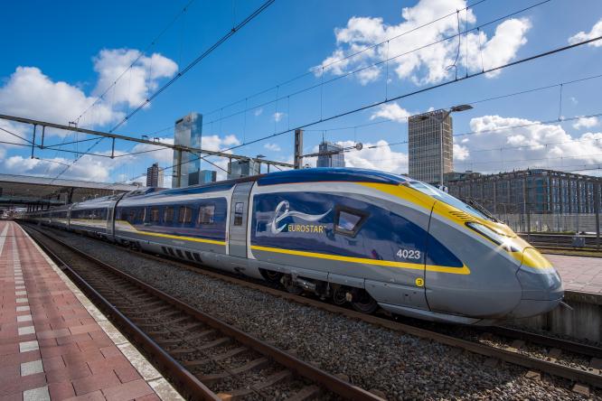 An image of a Eurostar train