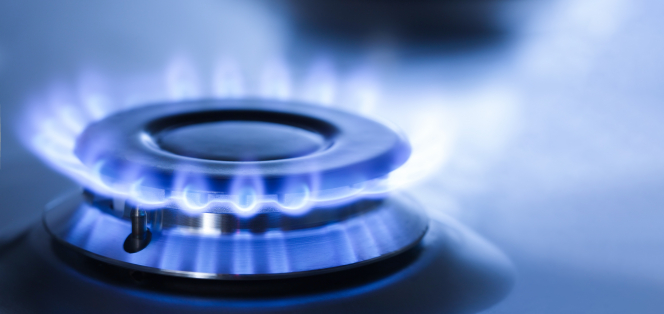 An image of a lit ring on a gas stove