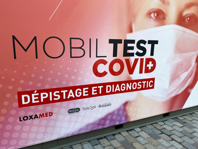 Covid testing centre from Loxamed in Bordeaux, France
