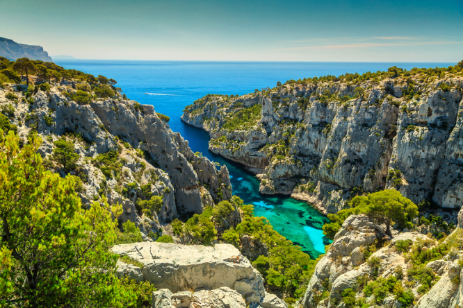 The Calanques National Park in France