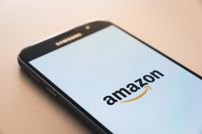 A smartphone showing Amazon. Amazon France may hold Black Friday in December