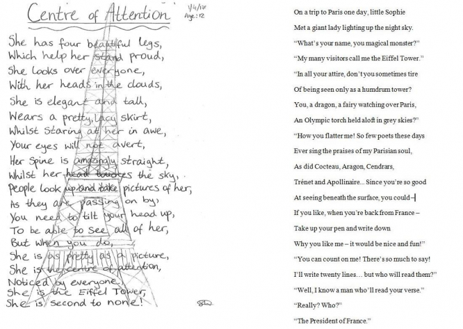 Two poems side by side in English