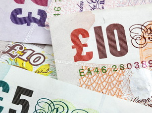 Pound notes of various denominations