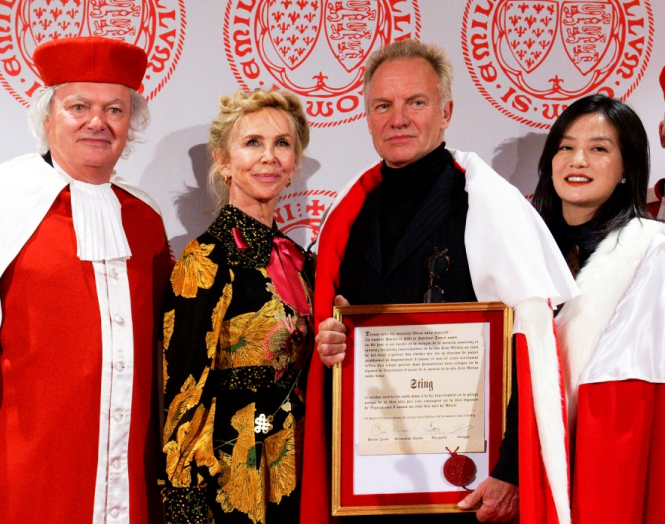 Red robes with four people