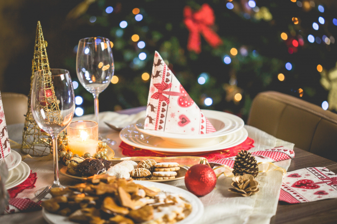Table set for Christmas dinner. Grandparents should eat alone this Christmas says French doctor