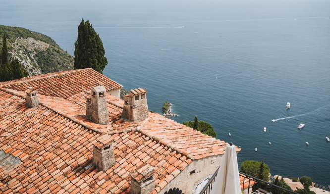 A view of the sea from Èze Village in France.