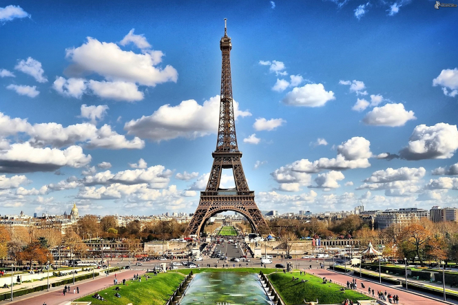 The Eiffel Tower. Germany has added Paris and Côte d'Azur to it's Covid travel risk list