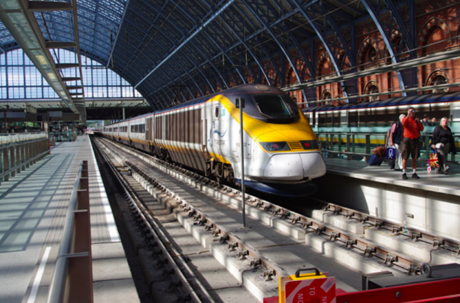 A Eurostar train at St Pancras station. Eurostar facing collapse as France-UK travel restricted amid Covid pandemic