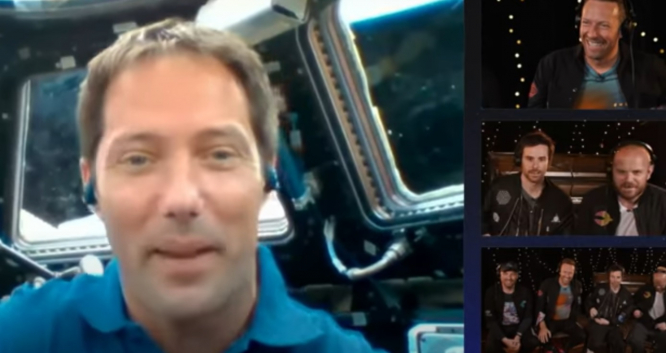 Thomas Pesquet speaks to Coldplay from the International Space Station. French astronaut Thomas Pesquet launches new Coldplay song from space