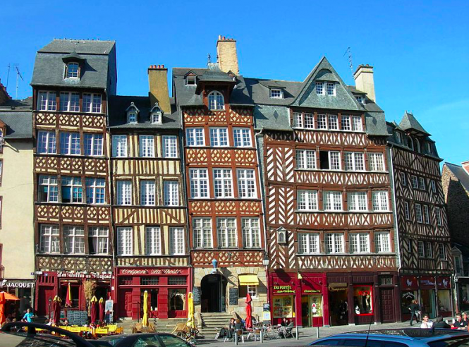 Timber-frame buildings in Rennes. Brittany seeks funding to save historic timber-frame houses