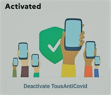 The Tous Anti Covid application in English