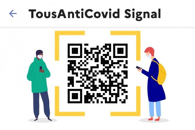 The Signal tool in Tous Anti Covid