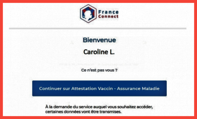 Accessing a Covid-19 vaccination certificate online in France