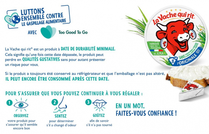 La Vache Qui Rit advice. Food waste: French cheese 'fine to eat after best before date'