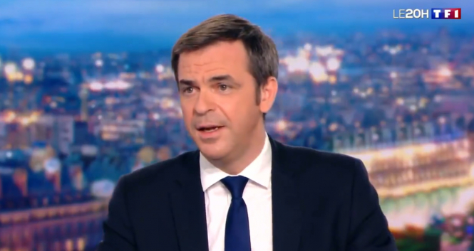 Health minister Olivier Veran speaks on TF1. Minister: France to vaccinate 'entire country' by end August