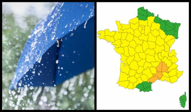 Orange weather warning for four French departments