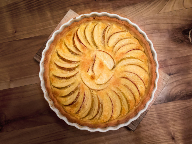 Travel the regions of France from your kitchen during lockdown: A picture of Normandy Apple Tart