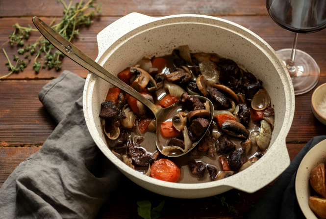 Travel France from your kitchen: A picture of Boeuf Bourguignon