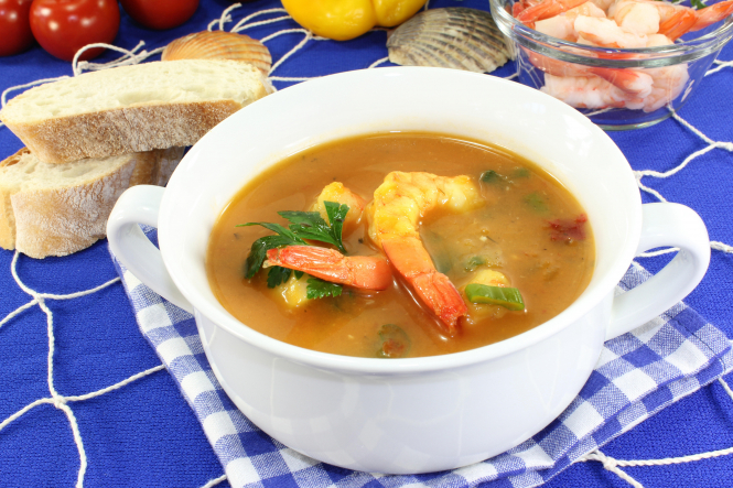 Travel France from your kitchen with regional recipes: A picture of a pot of bouillabaisse