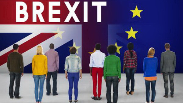 Graphic of people standing in front of a UK and EU flag. Brexit news What visa do I need to stay in France long term?