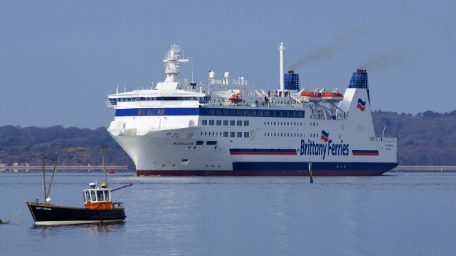 A Brittany Ferries ship
