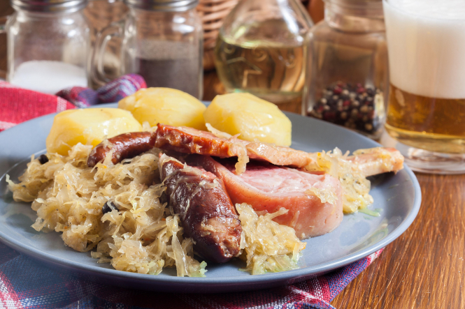 Travel the regions of France from your kitchen: A picture of Alsace Choucroute garnie