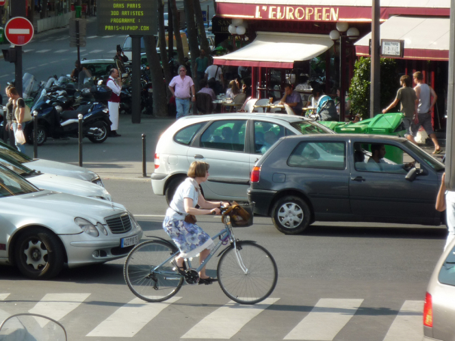 Cyclists can take their lives in their hands every time they take to the streets in a French city
