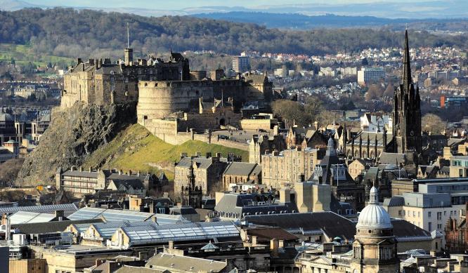 View of Edinburgh including the castle