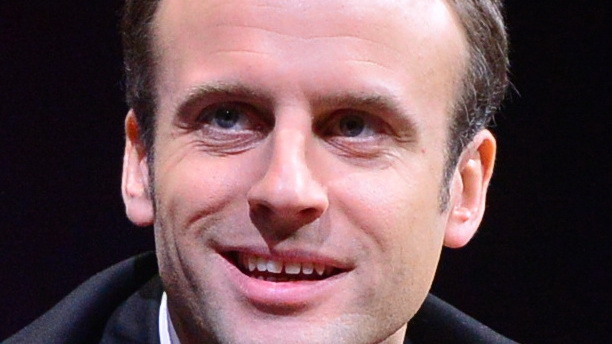 Close-up of French centrist politician Emmanuel Macron