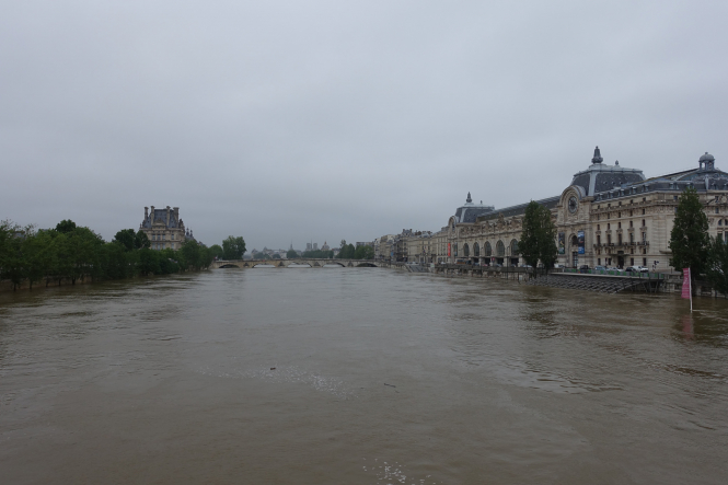 The Seine flooded in Paris in June 2016