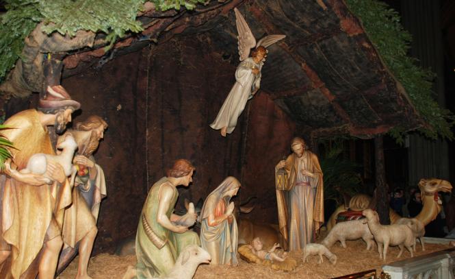 A Christmas nativity scene