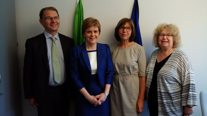 First Minister of Scotland, Nicola Sturgeon meets with MEPs to discuss Scotland's future relationship with the EU