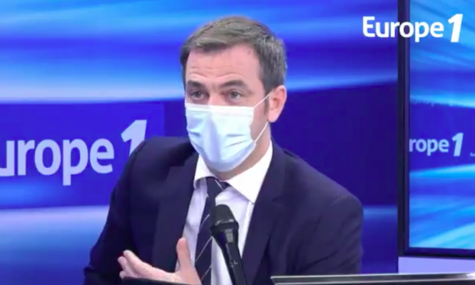 Olivier Véran speaking on Europe 1. New Covid-19 strain found in UK 'possibly' in France