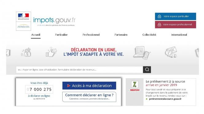 Online French Tax Declaration Gave Error Message