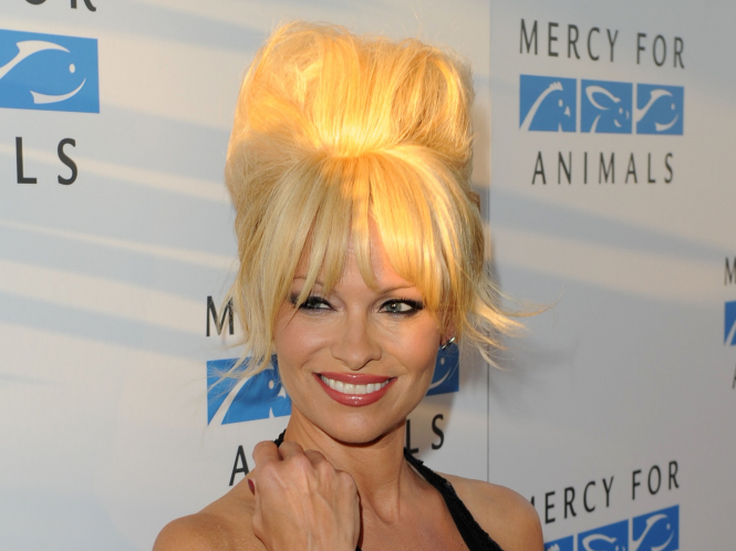 Actor and animal rights campaigner Pamela Anderson