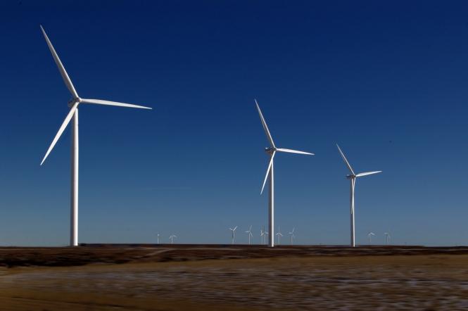 wind turbines debate over nuclear power