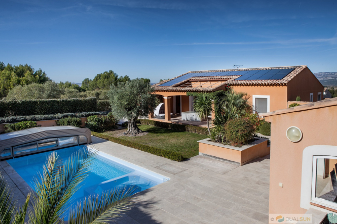 Will French property prices rise post-lockdown? Pictured: a house with solar panels by French company Dualsun