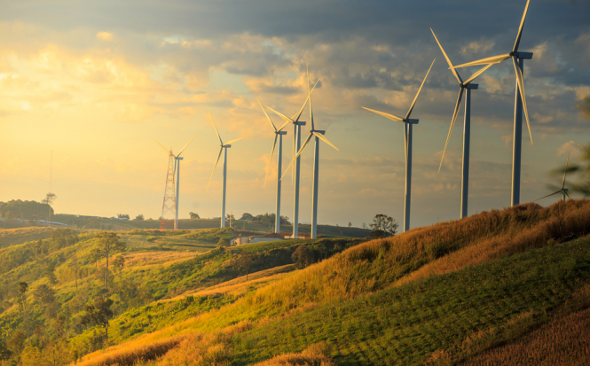 Wind farm at sunrise. New rules could make it more harder to install wind turbines in France